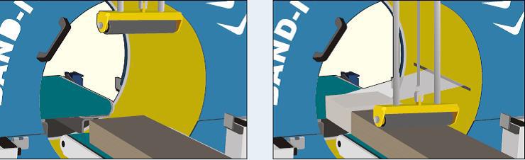 Encintadora automática con cabezal giratorio y corte automático para film estirable. Serie BAND-IT.