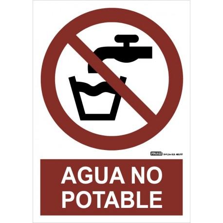 Señal agua no potable