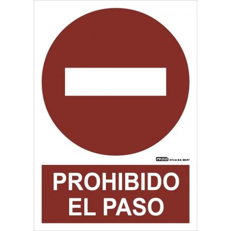 Señal prohibido el paso. Pictograma