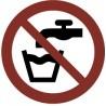 Pegatina Señal agua no potable