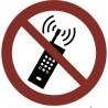 Pegatina Señal prohibido el uso de teléfonos móviles