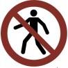 Pegatina Señal prohibido el paso. Solo personal autorizado
