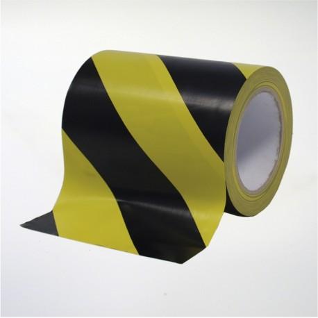 Cinta de marcaje y señalización autoadhesiva amarilla y negra - 15 cm