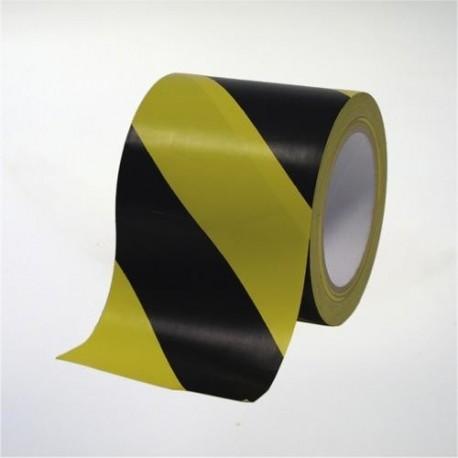 Cinta de marcaje y señalización autoadhesiva amarilla y negra - 10 cm