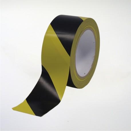 Cinta de marcaje y señalización autoadhesiva amarilla y negra - 5 cm