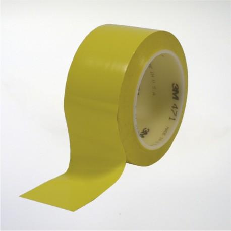 Cinta de marcaje y señalización autoadhesiva amarilla - 5 cm