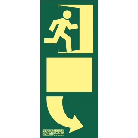 Balizamiento puerta de salida derecha