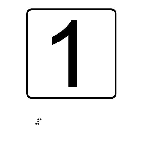 Número - Con escritura Braille