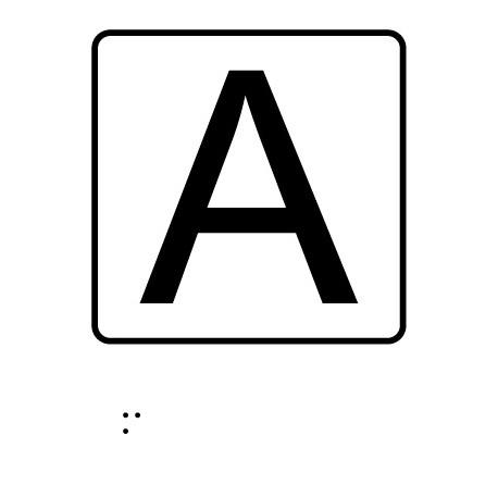 Letra - Con escritura Braille