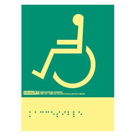 Señal accesible izquierda - Con escritura Braille Clase A.
