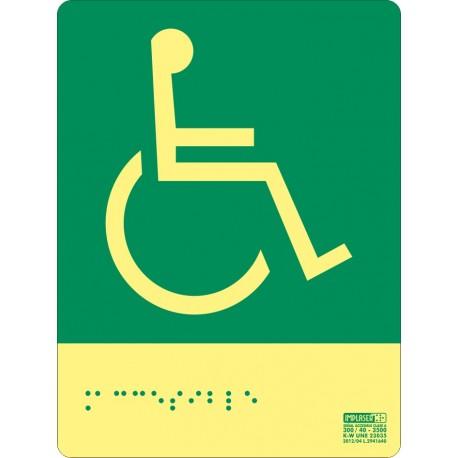 Señal accesible derecha - Con escritura Braille