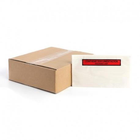 Sobres packing list 'Contiene documentación' 240 x 140 mm