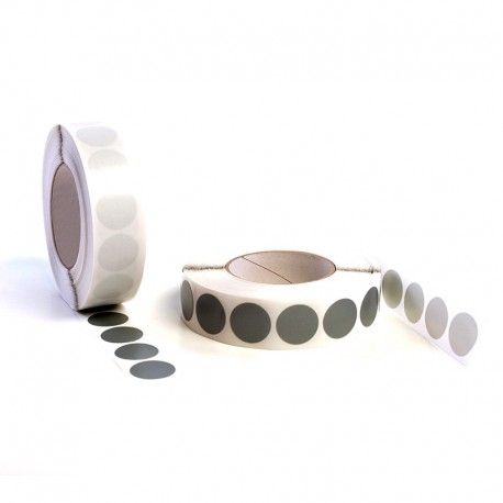 Etiqueta adhesiva tejido plástico ø.30 grispl1000
