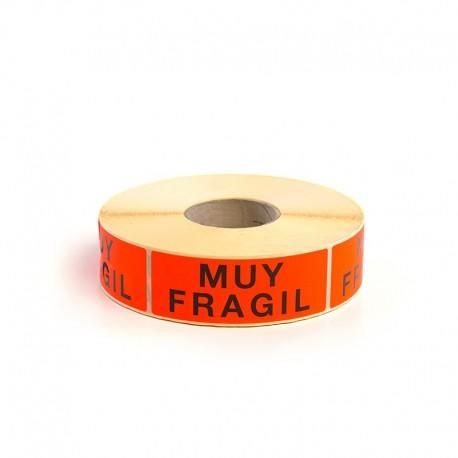 "Etiqueta Adhesiva ""Muy frágil"""