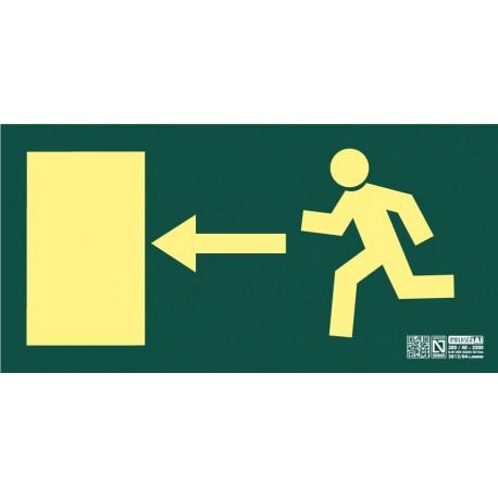 Señal de Salida de Emergencia puerta izquierda