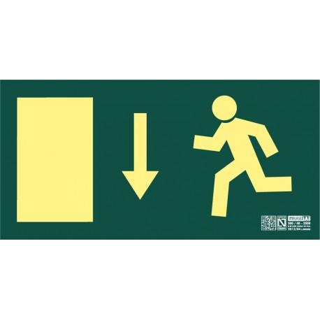 Señal de Salida de Emergencia puerta abajo