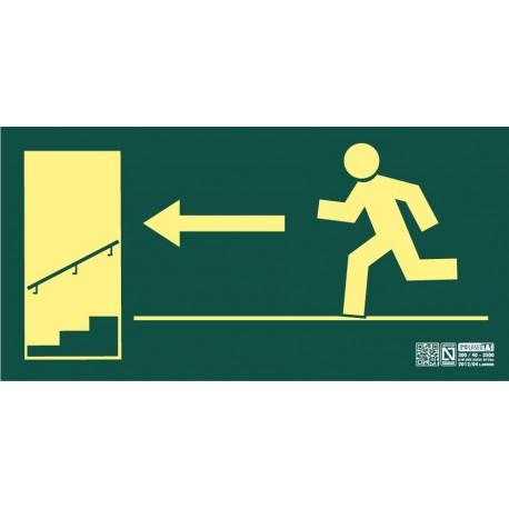 Señal Salida escalera descendiente izquierda Clase A