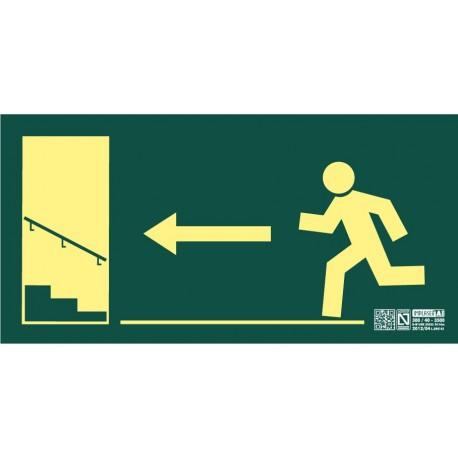 Señal Salida escalera ascendiente izquierda Clase A