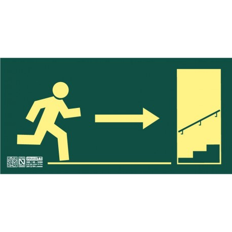 Señal Salida escalera ascendiente derecha Clase A