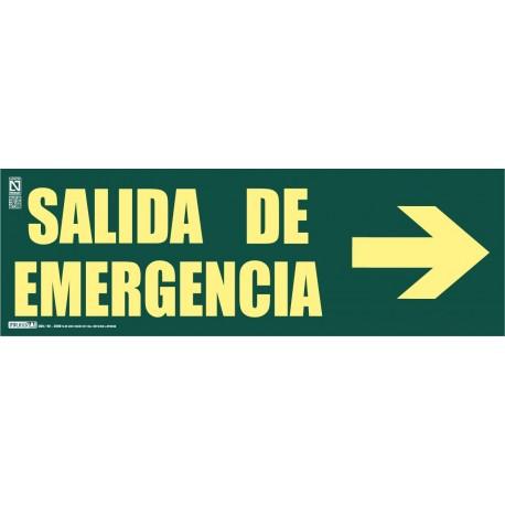 Señal Salida de emergencia + Flecha Clase A