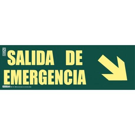 Señal Salida de emergencia + Flecha inclinada Clase A