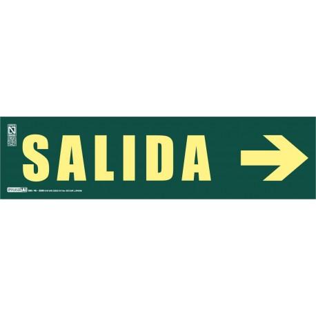 Señal literal de Salida + Flecha recta Clase A
