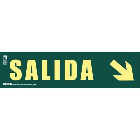 Señal literal de Salida + Flecha inclinada Clase A