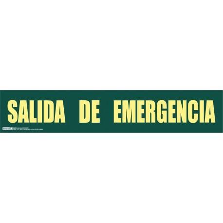 Señal Salida de emergencia una línea Clase A