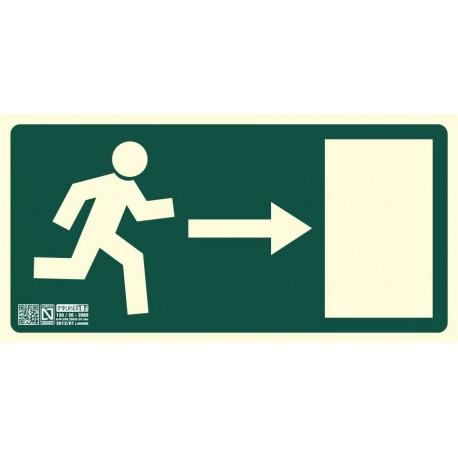 Señal de Salida de Emergencia puerta derecha clase B