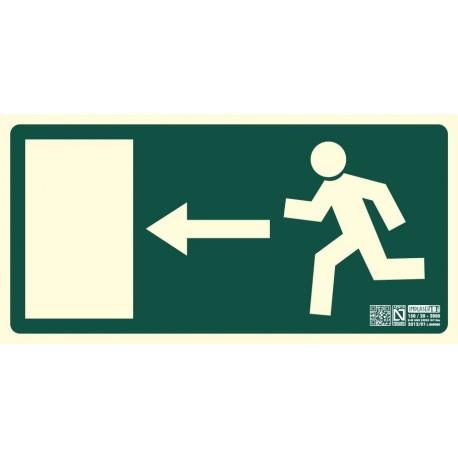 Señal de Salida de Emergencia puerta izquierda clase B