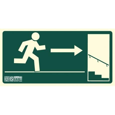 Señal Salida escalera descendiente derecha Clase B