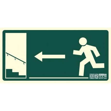 Señal Salida escalera ascendiente izquierda Clase B