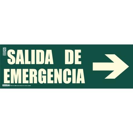 Señal Salida de emergencia + Flecha Clase B