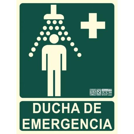Señal ducha de emergencia Clase B