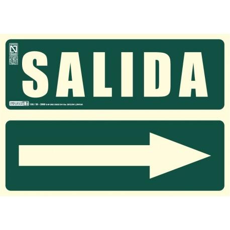 Señal literal de Salida + Flecha recta Clase B