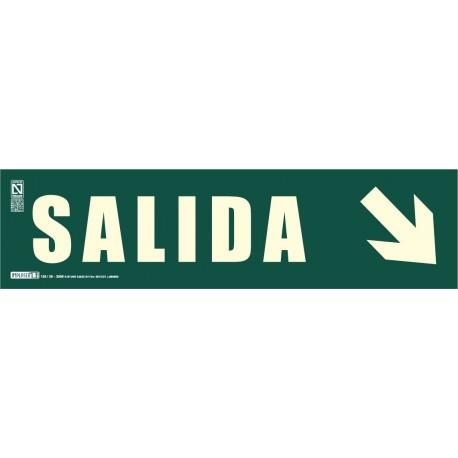 Señal literal de Salida + Flecha inclinada Clase B