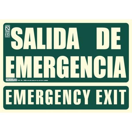 Señal Salida de emergencia / Emergency Exit Clase B