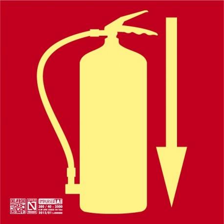 Señal Extintor Clase A con Flecha