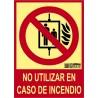 No usar en caso de incendio Clase A