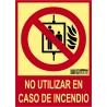 No usar en caso de incendio Clase A CTE