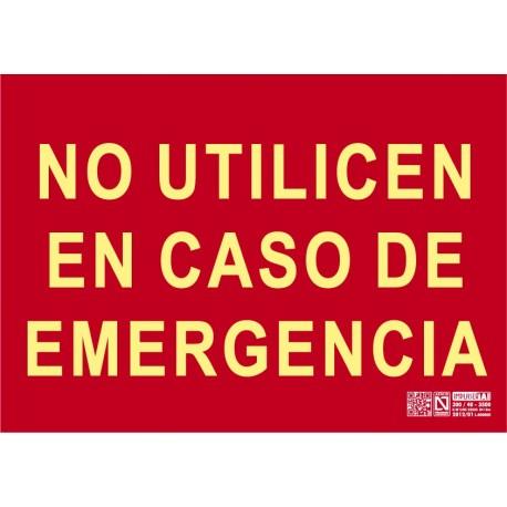 No utilicen en caso de emergencia Clase A