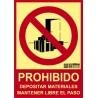 Prohibido depositar materiales Clase A CTE