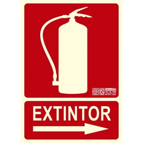 Señal Extintor Flecha Dcha. Clase B