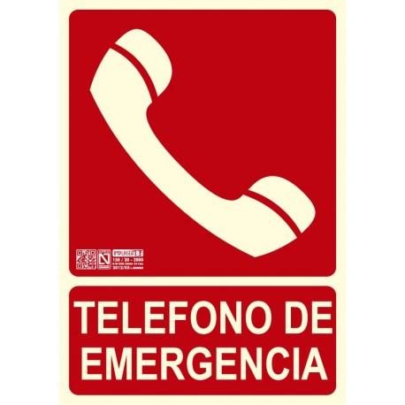 Señal teléfono de emergencia Clase B