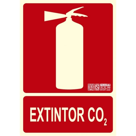 Señal Extintor Co2 Clase B