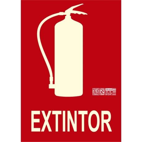 Señal extintor Clase B (Sin marco).
