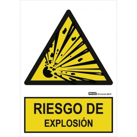 Señal Riesgo de explosión