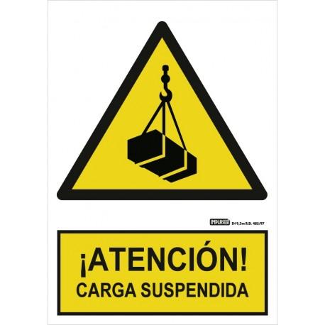 Señal Atención Carga suspendida