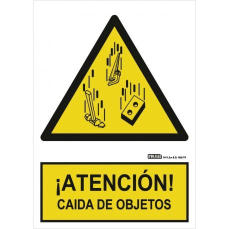 Señal Atención caída de objetos
