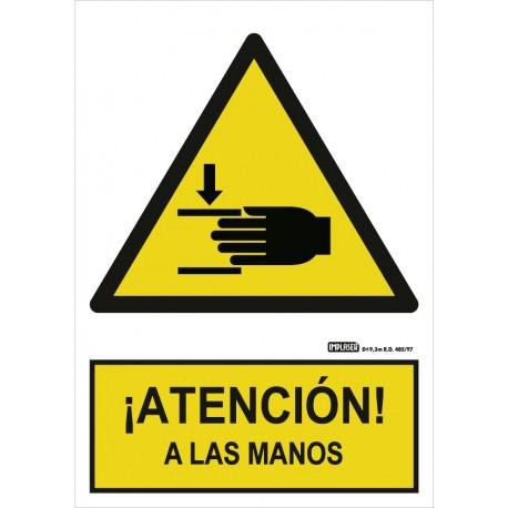 Señal Atención a las manos